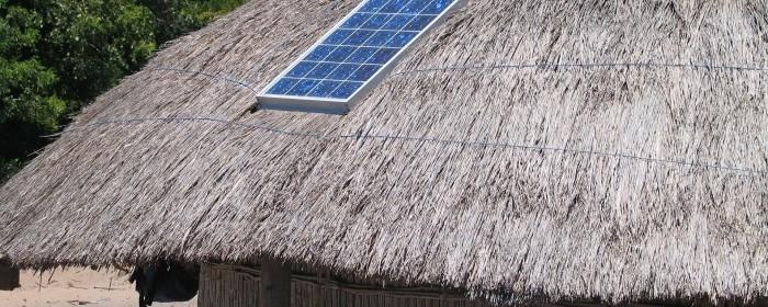 pannello solare capanna